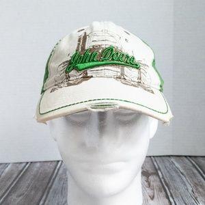 John Deere Ball Cap Distressed White and Green